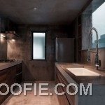 Minimalist Kitchen Design Ideas with Concrete Wall
