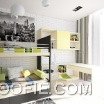 Modern Fresh Teen Room with Bunk Beds