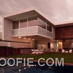 Modern Minimalist House with Contemporary Pool Design Ideas