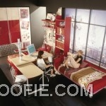 Reed White Teen Bedroom Beside Study Desk Ideas
