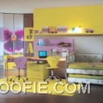 Yellow Smart Bedroom with Simple Furniture Ideas