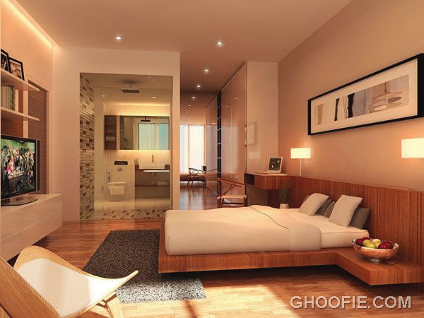 Bright Bedroom with Ceiling Light Ideas