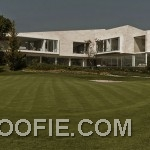Luxurious Marble House Design Ideas with Private Golf Course