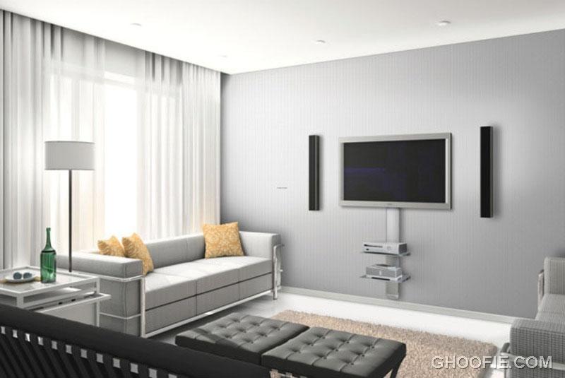 Minimalist Gray TV Wall Mount Ideas Design