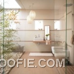 Modern Japanese Bathroom Design with Bamboo Decor