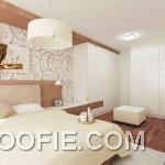 Modern White Wood Bedroom Decoration