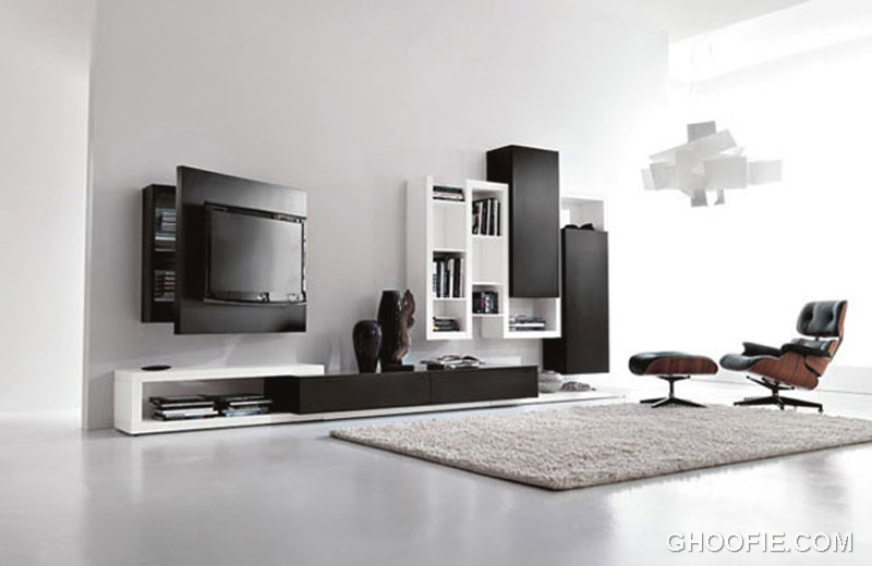 Multifunctional wall mount tv stand design interior for Wall mounted tv cabinet design ideas