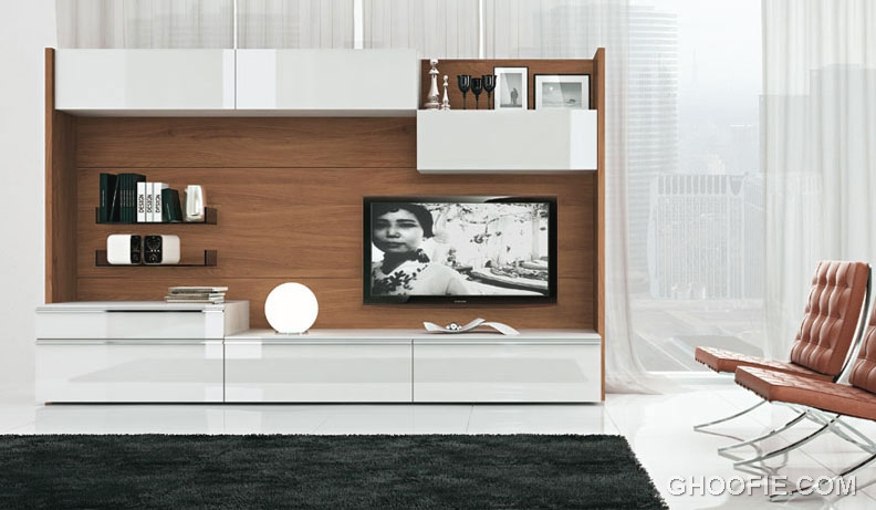 Natural Living Room with TV Wall Mount Ideas