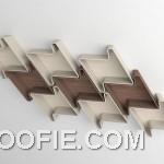 Pied De Poule Modular Wall Shelves Ideas