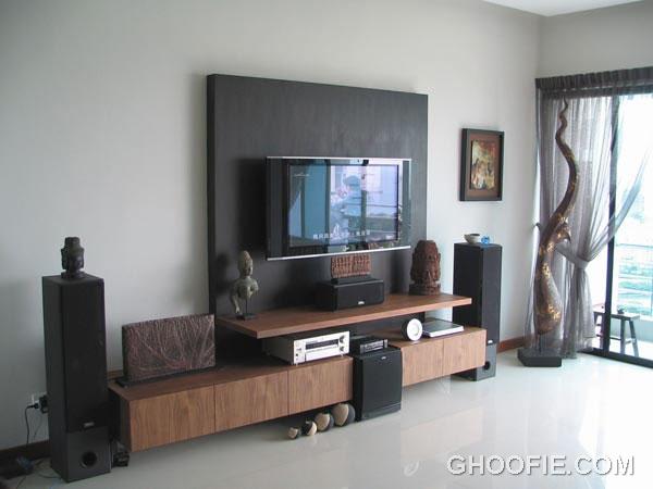 Simple minimalist furniture wall mounted tv interior for Minimalist wall design