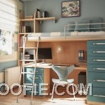 Small Kids Room Design with Bunk Bed