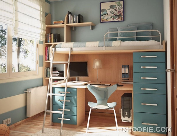 Small Kids Room Design with Bunk Bed - Interior Design Ideas
