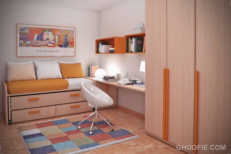 Smart Furniture in Teen Small Bedroom Design