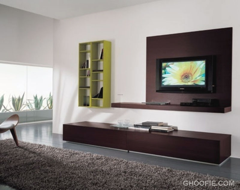 Stylish home design ideas best tv showcase designs for hall - Hanging tv on wall ideas ...