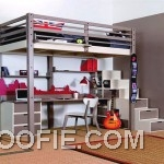Unique Small Bedroom with Steel Bunk Bed