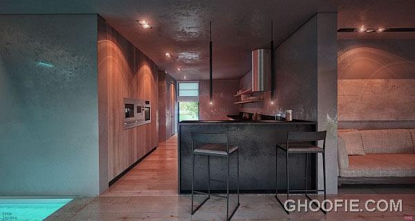 Comfy Home Spa Design Ideas with Mini Bar