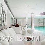 Lavish Home Spa Design Ideas with White Sofa