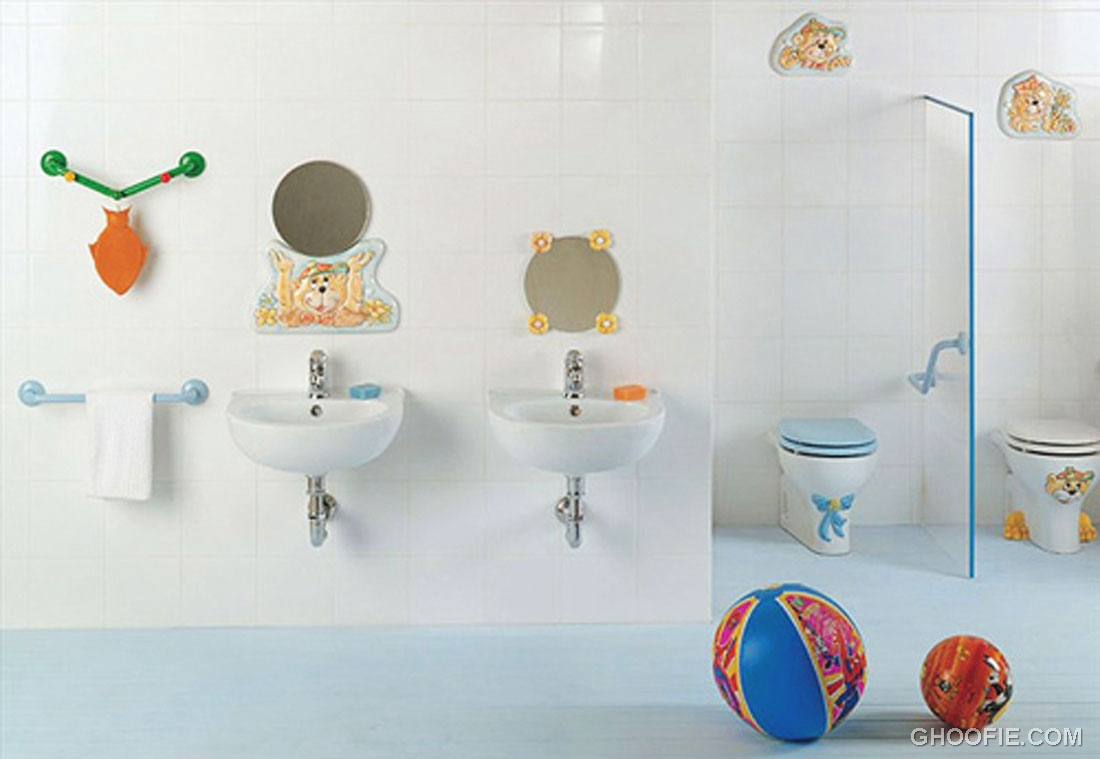 Cute wall decor kids bathroom design interior design ideas for Cute bathroom ideas decorating
