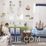 Kids Bathroom with Sailor Theme Decorating
