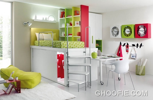 Colorful Furniture in Children Bedroom