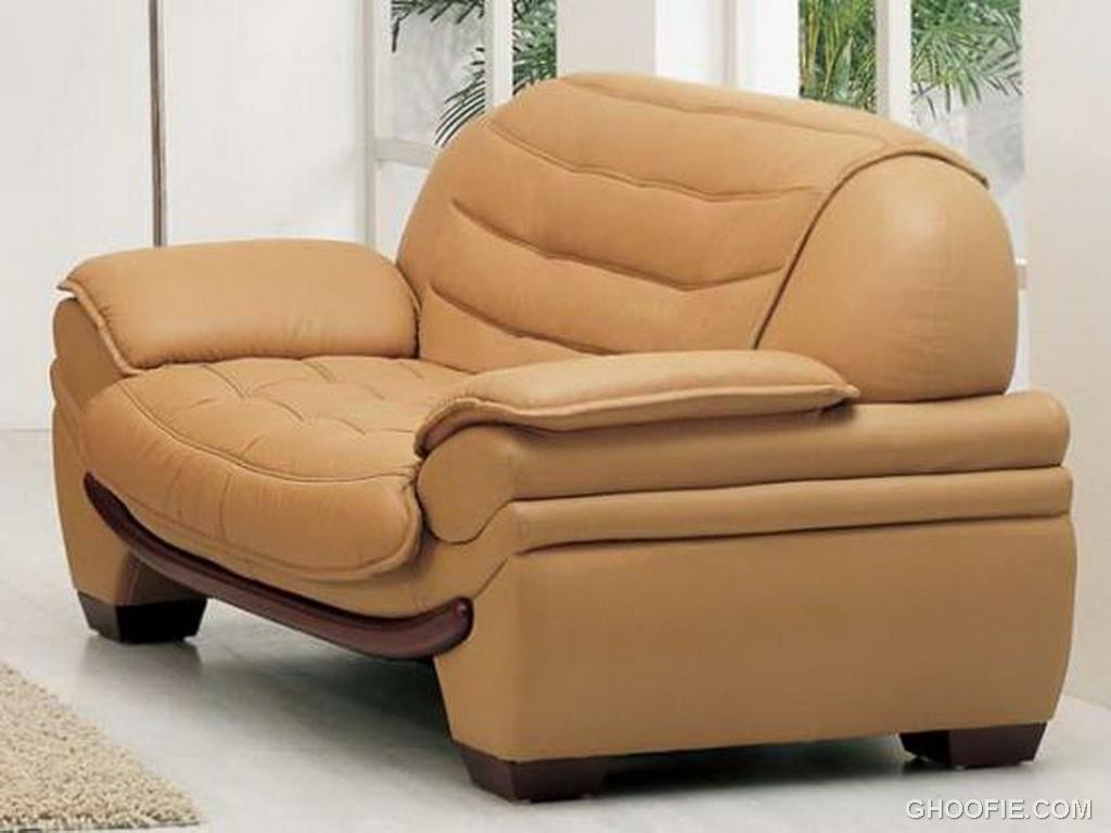 Aef Leather sofa, CAMEL Loveseat LRG