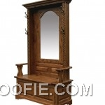 Amish Entryway Furniture Hall Tree Storage