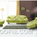 Awesome Green Leather Sofa Set for Living Room