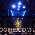 Beautiful Indigo Pearl Hotel Restourant Night Atmosphere Blue LED