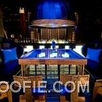 Contemporary Indigo Pearl Hotel Design Bar Black Sofa Square Table