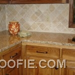 Cute Glazed Pot Marble Kitchen Island Rhombus Tile Kitchen Backsplash
