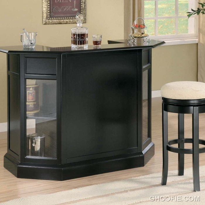 Small Home Bar Ideas And Modern Furniture For Home Bars: Elegant Bar Countertop Contemporary Home Bar Small