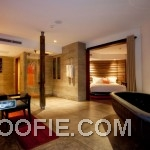 Elegant Spacious Bathroom Marble Tile Floor Indigo Pearl Hotel