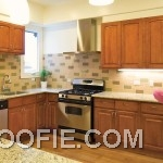 Fresh Indoor Plant Shiny Backsplash Light Simple Tile Kitchen Backsplash