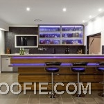 Impressive Hidden Lights Dark Barstools Contemporary Home Bar Wine Bottles