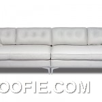 Leather White Sofa Extra Long for Living Room