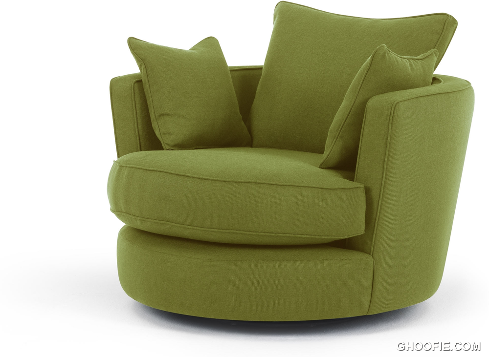 Leon swivel loveseat basil green sofa interior design ideas for Sofa stool design
