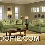 Light forest green fabric modern living room sofa interior design ideas for Forest green living room furniture