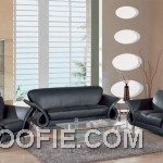 Modern Black Leather Set Furniture