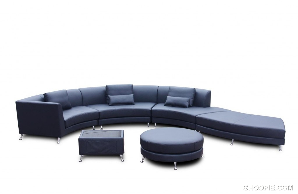 Modern Design Swarthy Leather Sofa Set