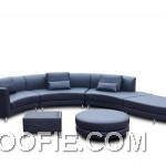Modern Design Swarthy Leather Sofa Set