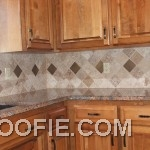 Natural Wood Kitchen Cabinet Eccentric Tile Kitchen Backsplash