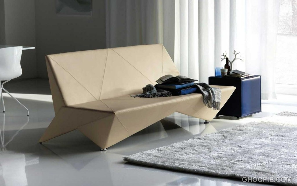 Origami Modern Unique Leather Sofa