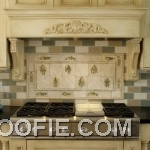 Scenic Tile Kitchen Backsplash Modern Stove White Kitchen Cabinet