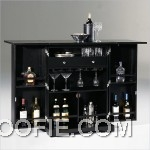 Shiny Martini Glasses Contemporary Home Bar Dark Bar Countertop