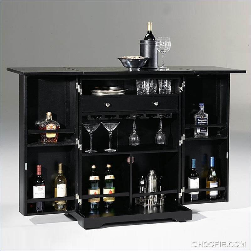 Interiordesign Portable Bar Home Bar Design Bar Stools: Shiny Martini Glasses Contemporary Home Bar Dark Bar
