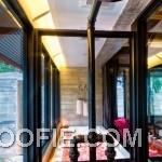 Simple Classic Indigo Pearl Hotel Shower Bath Tub Glass Window