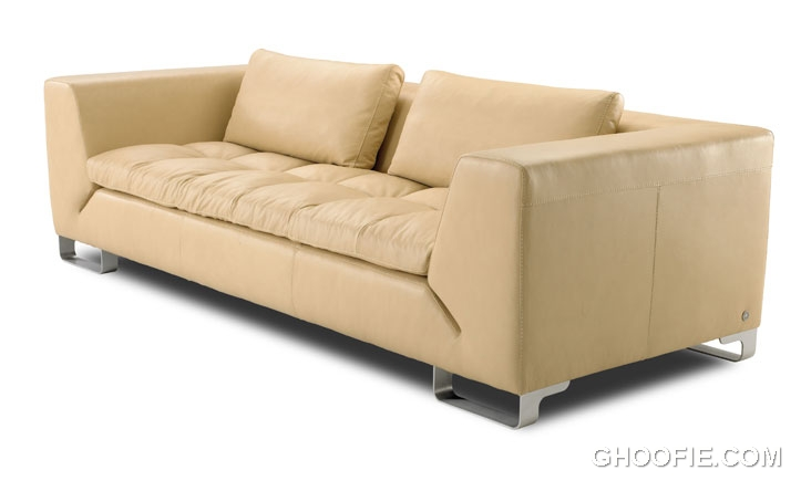 Small scale condo or apartment size sofa for living room for Apartment size leather sofa