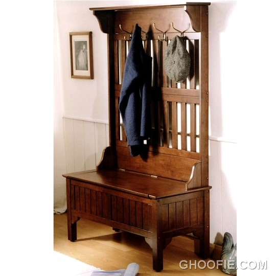 Storage Bench Hall Tree Cherry