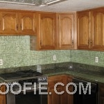 Tiny Tile Kitchen Backsplash Modern Kitchen Appliances Kitchen Cabinet