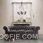 Tufted grey couch Sofa